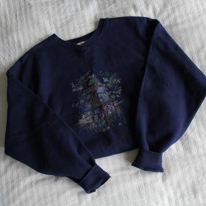 Vintage Navy Grandma Sweater